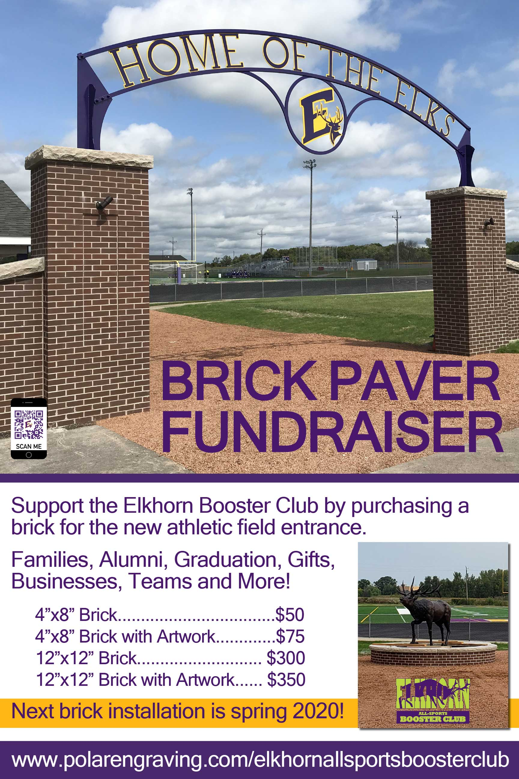 Booster club brick sale poster